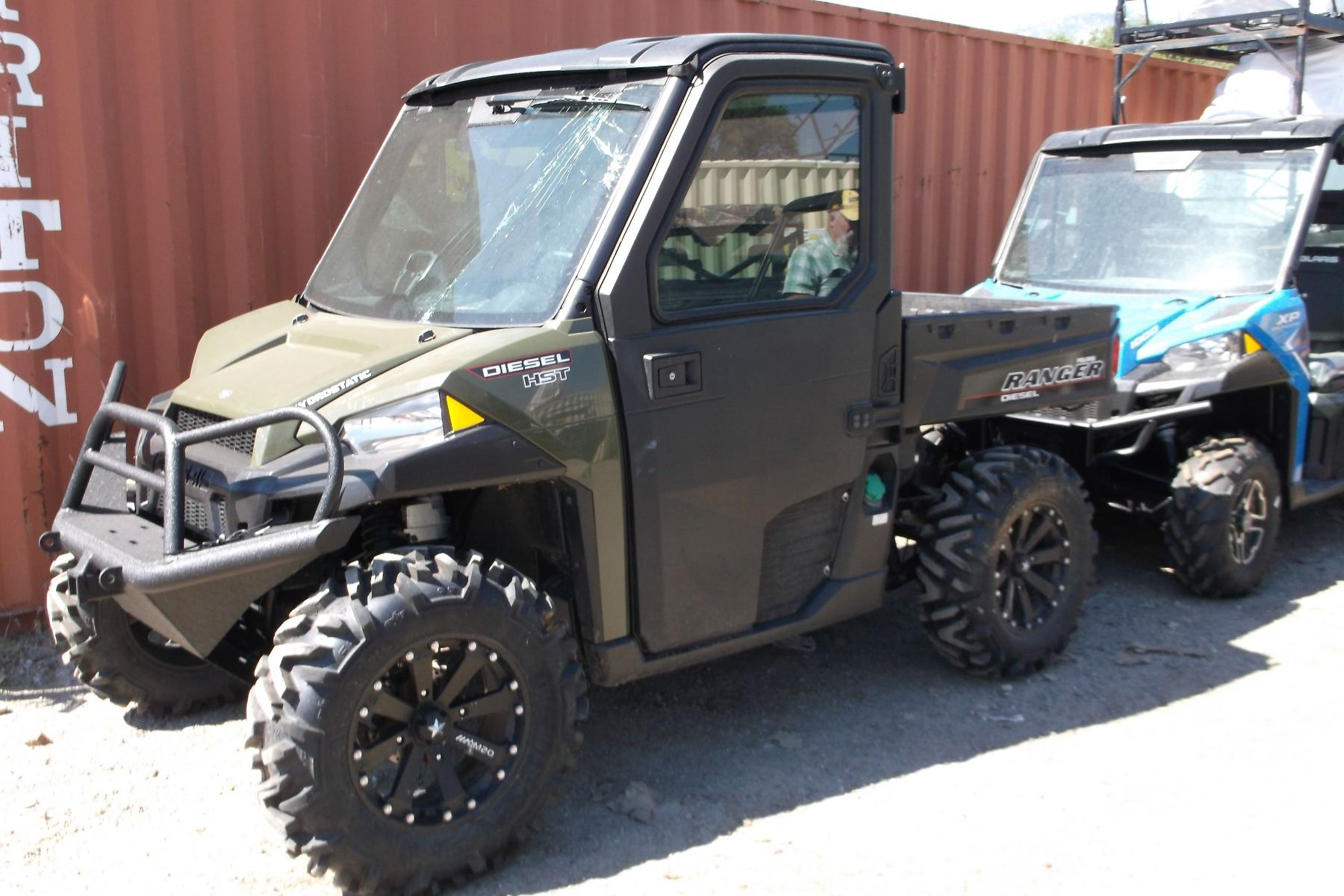 Polaris Ranger Side By Side- Diesel HST- Hydrostatic- Factory Cab- 4X4- Low  and High Range- 4X4