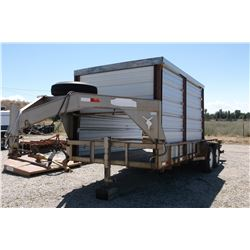 Flatbed Trailer- Tandem Axle- 18'X7'- 11' Is coverd with heavy frame and tin- Pull Good