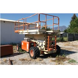 JLG Scissor Lift- 4X4- Gas or Propane- Everything Works Good