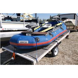 Momentum Oriole Raft- Frame- 12'- Trailer- Swivel Seats- 3 oars- Pump- Clear MT title