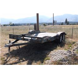 Road King Flatbed Trailer- 16' X 7'- Pulls Good- Tandem Axle- Good Rubber