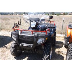 "2005 Polaris Sportsman High Output- Selectable 4WD- 2"" Hitch- Hand Warmer- Windshield- 3360 Miles"