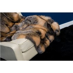 CROSS FOX FUR 4'X6' BLANKET