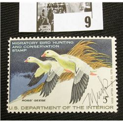 1977 U.S. Department of the Interior Migratory Bird Hunting Stamp, RW#44, OG, not hinged, F-VF, Sign