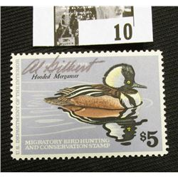 1978 U.S. Department of the Interior Migratory Bird Hunting Stamp, RW#45, OG, not hinged, EF, Signed