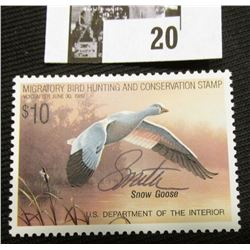 1988 U.S. Department of the Interior Migratory Bird Hunting Stamp, RW#55, OG, not hinged, VF, Signed