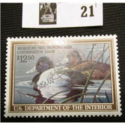 1989 U.S. Department of the Interior Migratory Bird Hunting Stamp, RW#56, OG, not hinged, F-VF, Sign