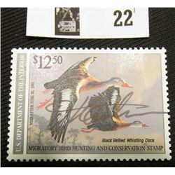 1990 U.S. Department of the Interior Migratory Bird Hunting Stamp, RW#57, OG, not hinged, VF-EF, Sig