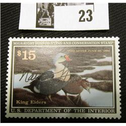 1991 U.S. Department of the Interior Migratory Bird Hunting Stamp, RW#58, OG, not hinged, VF-EF, Sig