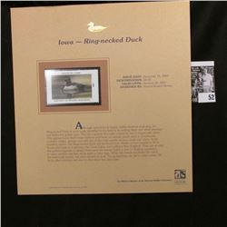 2006 Iowa State Conservation Commission Migratory Waterfowl $8.50 Stamp,  Pristine Mint condition in