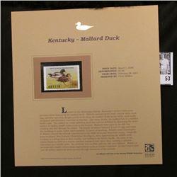 2006 Kentucky Waterfowl $7.50 Stamp depicting Mallard Ducks, Pristine Mint condition in plastic page