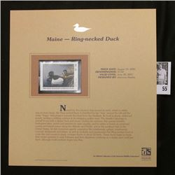 2006 Maine Migratory Waterfowl Conservation $7.50 Stamp depicting Ring-necked Ducks, Pristine Mint c