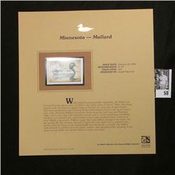 2006 Minnesota Migratory Waterfowl Conservation $7.50 Stamp depicting Mallard Duck, Pristine Mint co