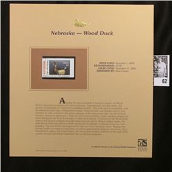 2006 Nebraska Game and Parks Commission Waterfowl $5.00 Stamp, Pristine Mint condition in plastic pa