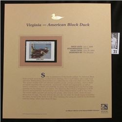 2006 Virginia Migratory Waterfowl Conservation $10.00 Stamp depicting American Black Ducks, Pristine