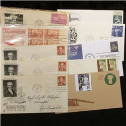 (10) Special Cacheted or First Day Covers dating back to 1950.