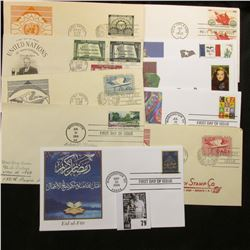 (10) Special Cacheted or First Day Covers dating back to 1953.