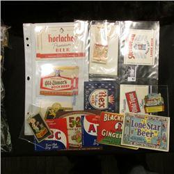 "Breweriana Stickers, Labels, and etc. ""Edelweiss Beer""; Carioca West Indies Daiquiri; ""520 Ziegler B"