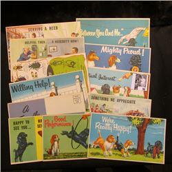 (15) Different 1940 era Postcards from Coldbrook Motors, Inc. Chambersburg, Pennsylvania.