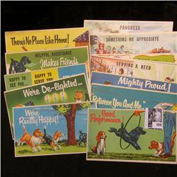 (15) Different 1940 era Postcards from Coldbrook Motors, Inc. Chambersburg, Pennsylvania. Top Card i