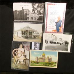 More than (15) Old Postcards, many of which are from Iowa.