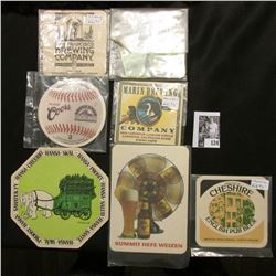 Large group of Brewery Company Coasters of extra thick design.