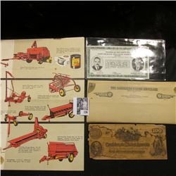 """""""A Complete Family of New Holland Grassland Machines"""" brochure; """"The Bandless Filing Envelope""""; $100"""