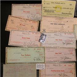 National Bellas Hess, Inc. Rebate Check; (19) Aldens, Inc. Checks; Atwood Vacuum Machine Company Roc