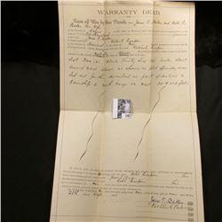 Sept. 21st, 1891 Warranty Deed for land in Howard Co., Missouri.
