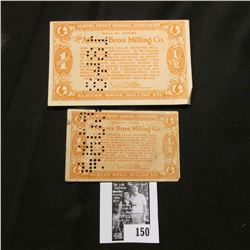 """1/2c & 1c """"Albers Profit Sharing Certificate"""" from Albers Bros. Milling Co. Depression Scrip."""
