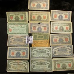"""(17) pieces of Scrip from the """"United Cigar Stores Company of America"""" issued during the Depression"""