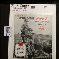 """""""The New John Deere Model """"A: General Purpose Tractor With Adjustable Tread"""" brochure. Includes two"""