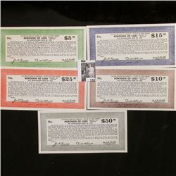 """1936 Depression Scrip: """"United States of America State of New Jersey Borough of Lodi County of Berge"""