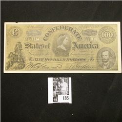 """1863 Confederate States of America Facsimile note with old Advertising """"Go to ROY'S FOR EASY MONEY."""