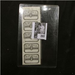"""(5) Attached """"Post Office Department United States of America Officially Sealed"""" Stamps."""