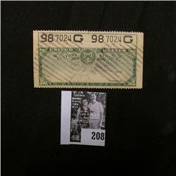 "United States Customs Service Stamp ""98 7024G""."