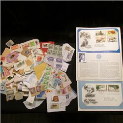 """(4) 1971-72 """"Wildlife Conservation"""" First Day Covers; and a large group of Old cancelled Stamps."""