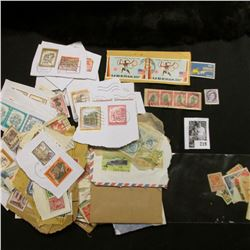 Large goup of Used Foreign Mix postage Stamps.