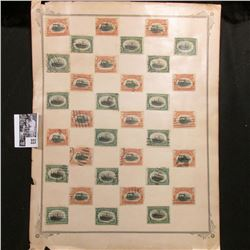 """Large group of """"Fast Lane Express"""" Postage Stamps depicting Locomotives and Steam Ships."""
