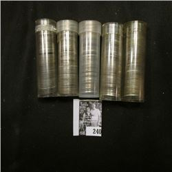 (5) Rolls of World War II Steel Cents in plastic tubes.