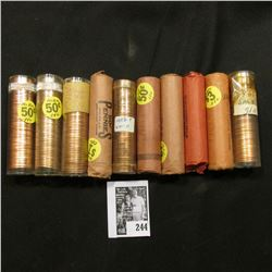 (10) Rolls of Lincoln Cents, most of which are BU and date back to 1958.