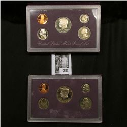 1988 S & 89 S U.S. Proof Sets, original as issued.