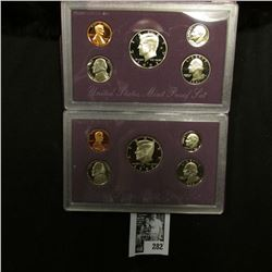 1991 S & 93 S U.S. Proof Sets, original as issued.