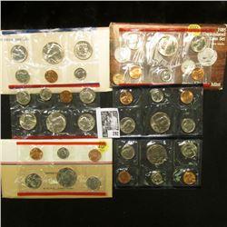 1981, 1985, & 1986 U.S. Mint Sets, original as issued.