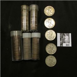 Approximately $25 face value in old clad Roosevelt Dimes, none checked for dates; & (5) Old U.S. Wal
