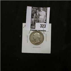 1937 S Washington Quarter, VG. Semi-Key date.