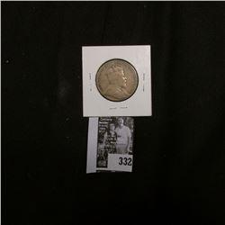 1908 Newfoundland Silver Half Dollar, VG.