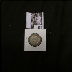 1917 C Newfoundland Silver Half Dollar, Fine. 160,000 mtg.