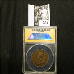 1915 H Australia One Penny, ANACS slabbed F 15.