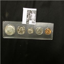 1966 Silver Gem BU Year Set in a Snaptight case. (5 pc.)